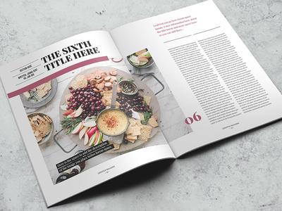 Lifestyle Indesign Magazine Template