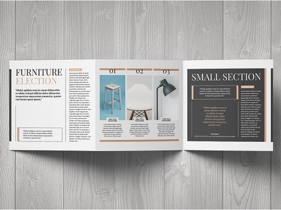 Multipurpose Square Trifold Template pages modern style digital print porfolio leaflet flyer brochure template trifold square