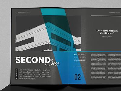 Chiaroscuro Magazine Template digital print editorial brochure gradient color style dark black template indesign magazine