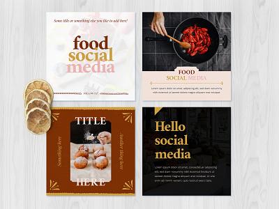 Food Social Media Templates 2 bar restaurant followers likes post photoshop photo food and drink social app templates socialmedia social food