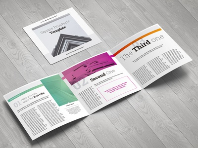 Square Trichure Template leaflet trifold square flyer design modernism fashion architecture modern pdf flyer template flyer illustrator brochure print editorial digital design template