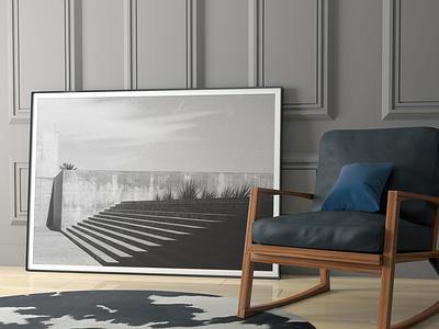 Elegant House MockUp room living room style frame print chair design porfolio photography poster scenes photoshop sofa chair bedroom livingroom mockup