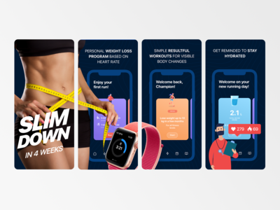 AppStore screens for EasyRun