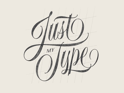 Just My Type pencil wip grid spencerian ipad pro procreate typography type sketch script lettering lettering hand lettering
