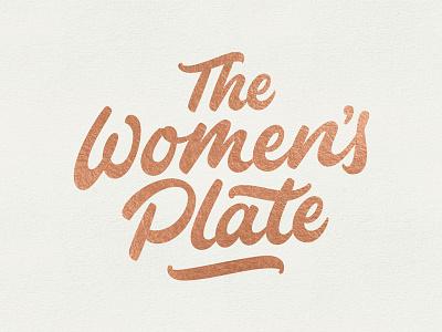 The Women's Plate hand lettering bezier vector lettering logo branding