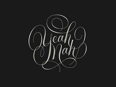 Yeah, Nah workshop flourish script vector calligraphy lettering hand lettering