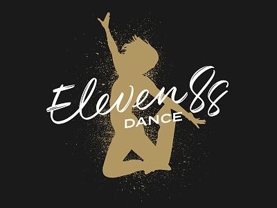 Eleven88 Dance Logo procreate ipad pro dance brush pen calligraphy logo lettering script vector bezier graphic design branding brush lettering hand lettering