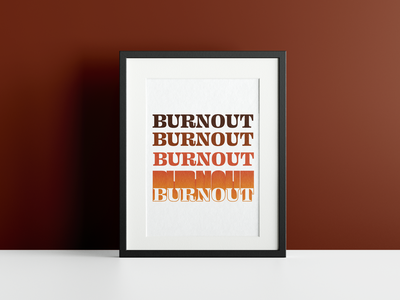 Burnout Poster poster design poster red burn retro design retro logo retro papercraft pattern texture rustic flat text design minimal illustrator illustraion illustration paper art papercut
