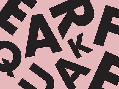 EARFQUAKE chaos albumartwork poster texture record cover tyler the creator igor grain concept typography art minimal design