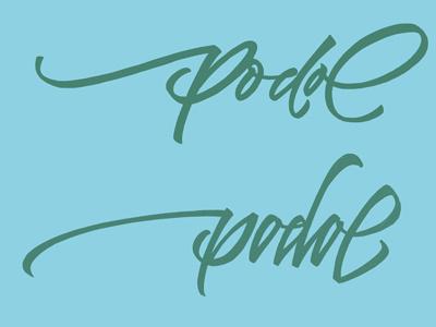 Podol lettering letters logo handmade handletters sketch
