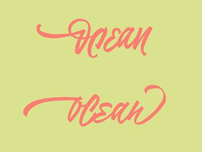 Ocean logotype design vikavita logo lettering letters concept