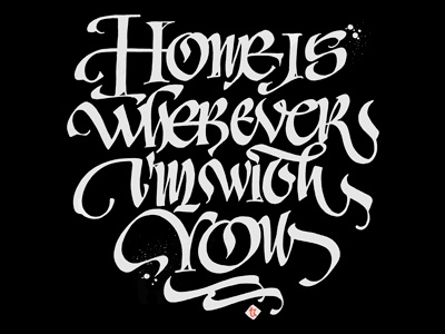 I'm with You typography handwritting calligraphy handmade letters uncial logo forfriends lettering withlove vikavita