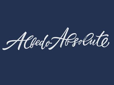 AlbedoAbsolute usa ukraine calligraphy lettering letters logo