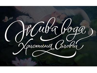 Zhyva voda design typedesign type vikavita logo lettering