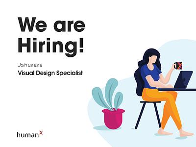 We're hiring! humanx ui graphicdesign visualdesigner job hiring