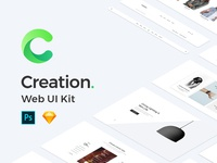 Creation Web Ui Kit for Designers