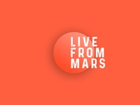 Logo concept | Live From Mars