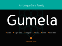 Gumela - An Unique Sans Family