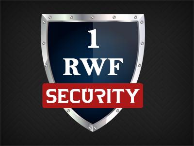 1RWF Security logo design shield logo security