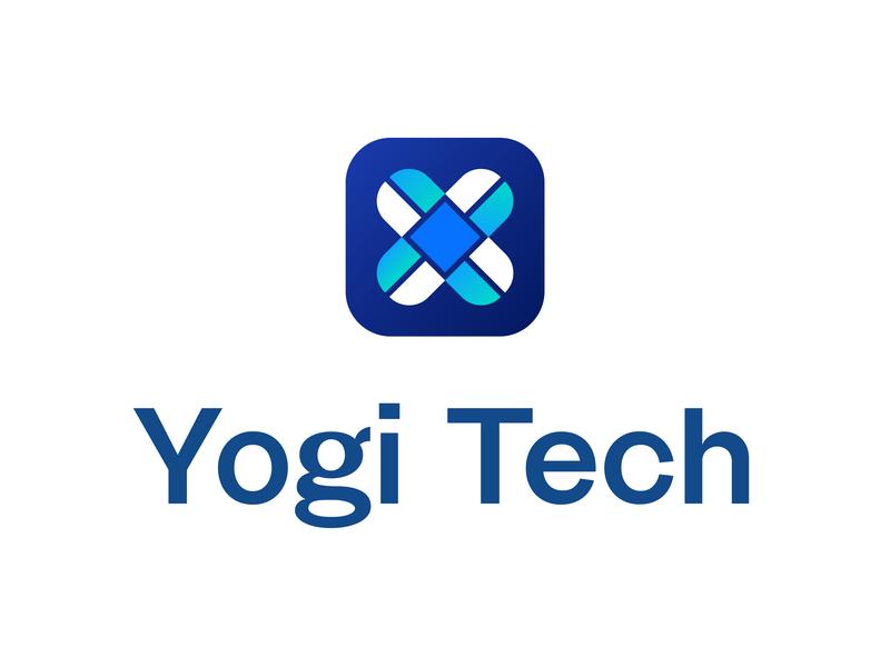 Yogi Tech startup yogi tech logo startup logo futuristic logo minimalist logo illustration logo design logo