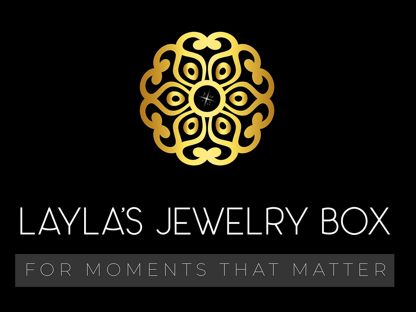 Layla's Jewelry Box graphic design brand clean minimal branding illustration vector design flat akshay jewelry jewelry logo minimalist logo logo design logo