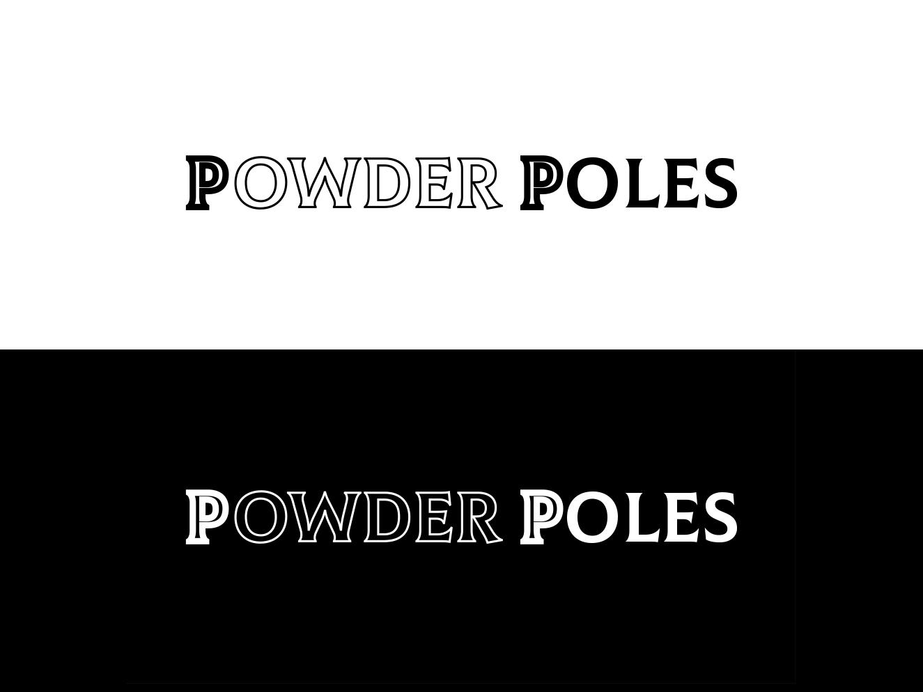 Powderpoles logotyp simple graphic design art brand clean illustrator minimal type flat ux branding vector ui logo design illustration