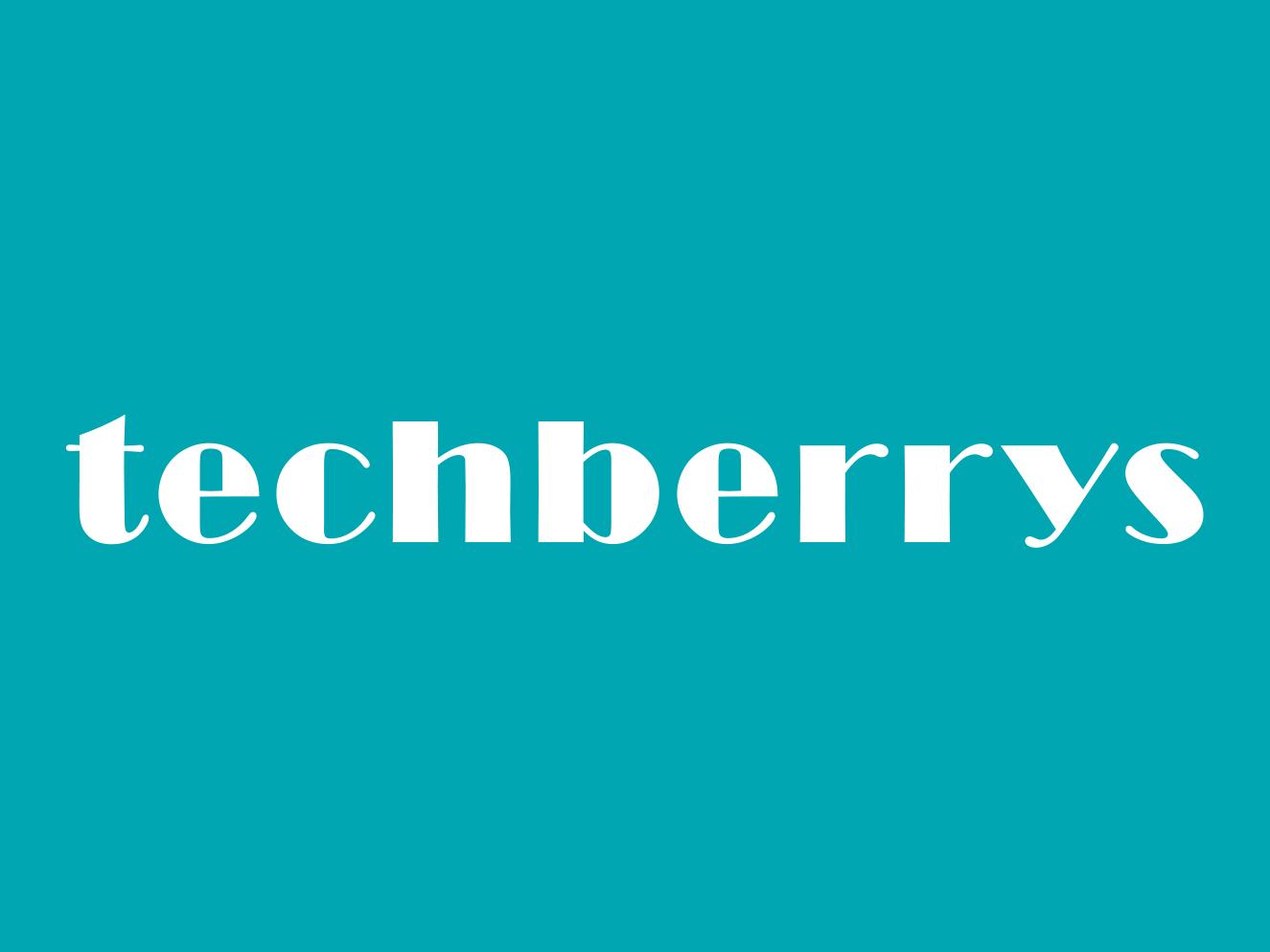 Techberrys typogaphy minimalist logo logo design logo berries berry tech tech logo