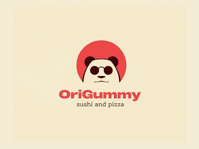 OriGummy logo sushi logo panda icon panda face cool panda panda logo panda logo