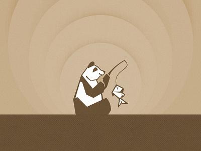 Fishing panda branding fishing panda illustration