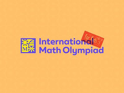 Kids IMO typography type logotype logomark olympiad math branding logo