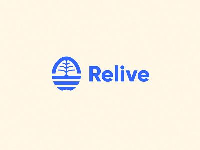 Relive logo design logotype neurology logo brain branding logo