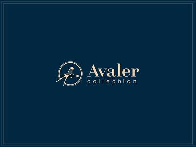 Avaler jewelry swallow bird logo bird type logotype branding logo