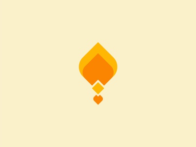 More marks torch fire abstract geometric design icon branding logo