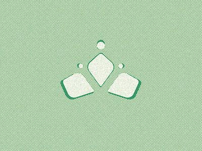 Crown mark halftone crown vector geometric mark abstract icon branding logo
