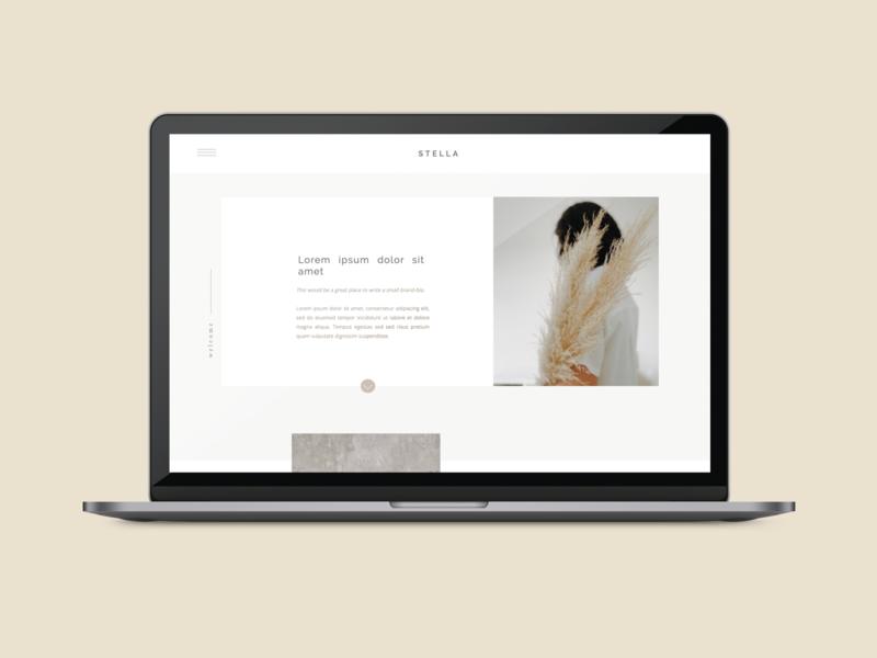 Stella ShowIt Template showit template showit web design
