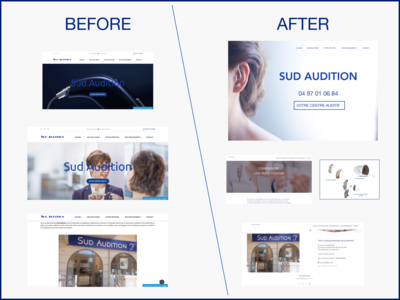 Before / After redesign