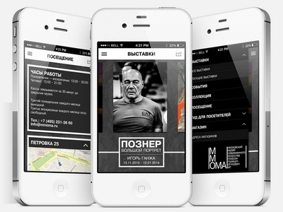 Concept of iOS app for museum