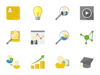 Icon set for web service