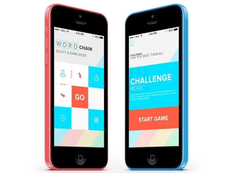 Wordchain iOS game game ios flat chain wordchain bright