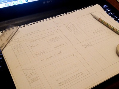 Sketches + wireframes time