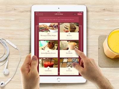 Cafe iPad Menu Design