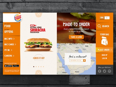 Concept Redesign of Burger King website food website website orange food ordering burger king cafe restaurant fast food burger food delivery