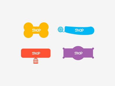 Button Design for Online pet store