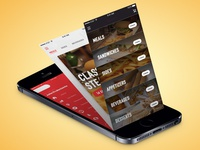 📱 Burgers and Steaks Mobile app food android steaks delivery restaurant sandwiches burger app ios