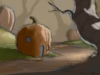 Pumpkinville Sketch