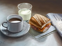 Still life breakfast