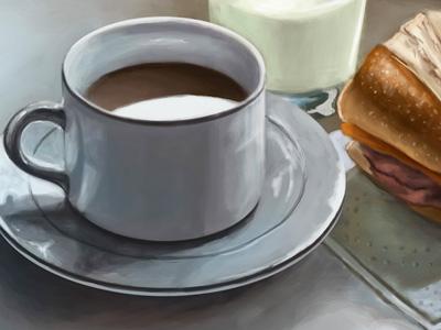 Still life breakfast drib