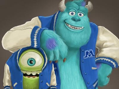 Monsters Inc mikewazowski sulley pixar monsters monstersinc monsters inc animation cartoon film characters university disney
