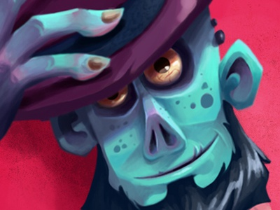 We Tip Our Hat... character design character cartoon monster hat zombie digital painting photoshop illustration