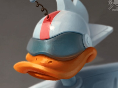 Gizmo ducktales hero superhero character disney retro duck gizmo robot digital painting photoshop illustration